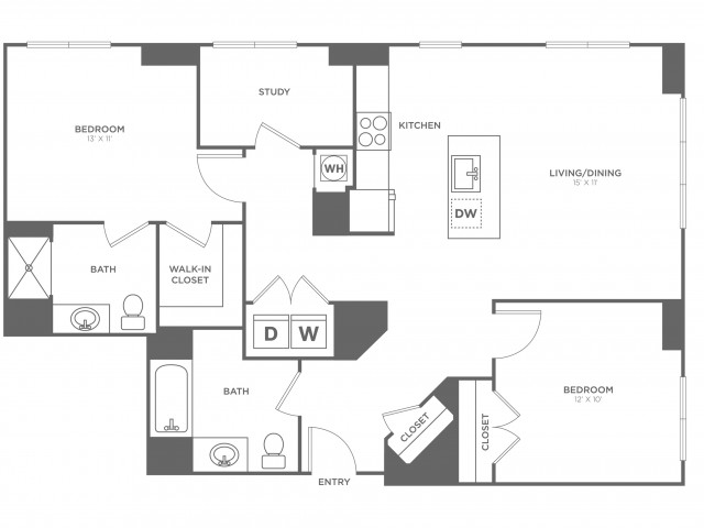 Hawthorn East | 2 bed 2 bath | from 1243 square feet