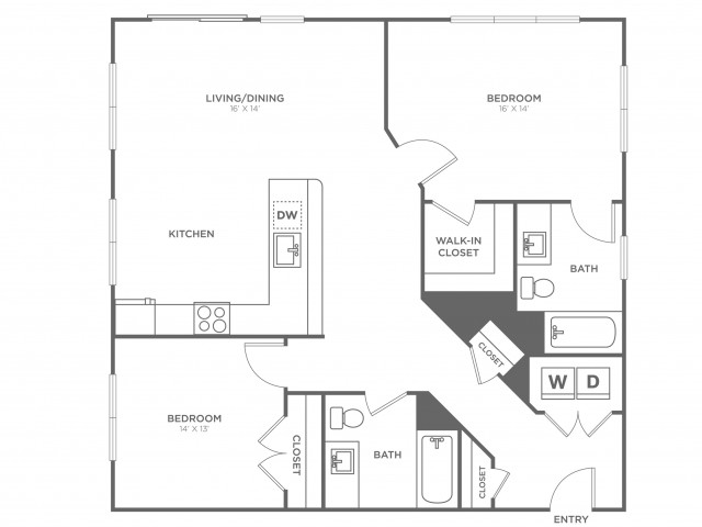 Juniper West | 2 bed 2 bath | from 1145 square feet