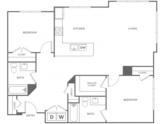 Willow West | 2 bed 2 bath | from 1259 square feet