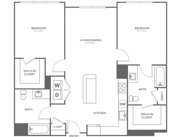 Maple West | 2 bed 2 bath | from 1100 square feet