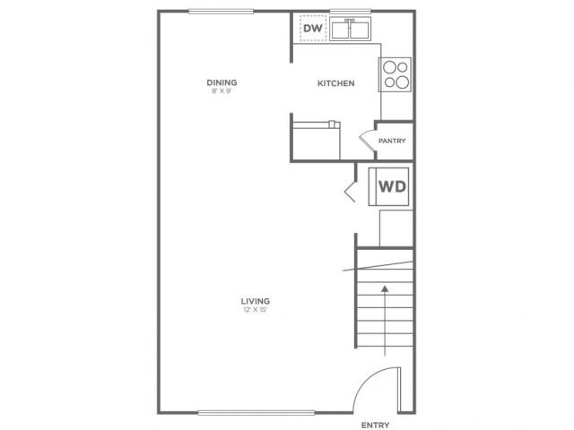 Bainbridge-Restored | 2 bed 1 bath | from 760 square feet