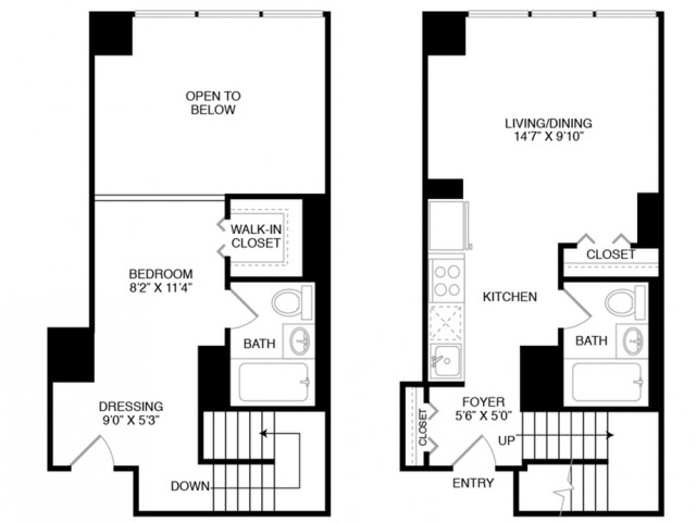S4 | Studio1 bath | from 580 square feet