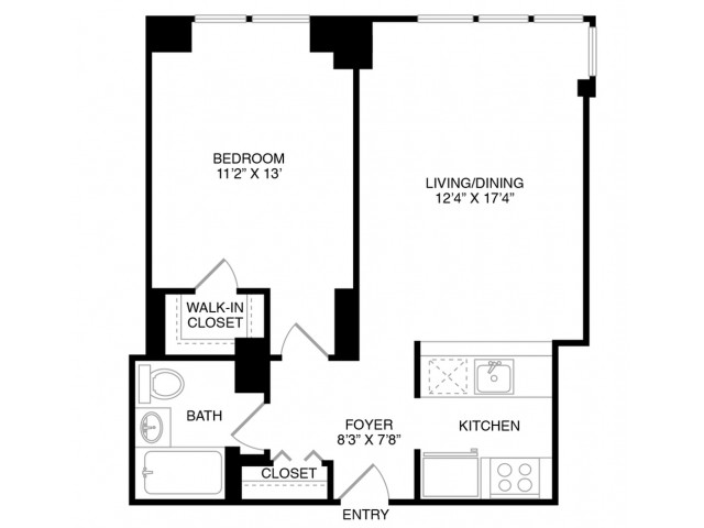 A5 | 1 bed 1 bath | from 660 square feet