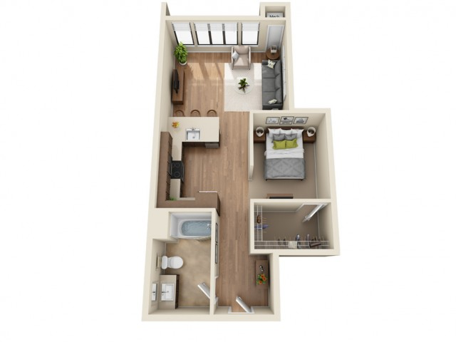 SP6 | Studio1 bath | from 713 square feet