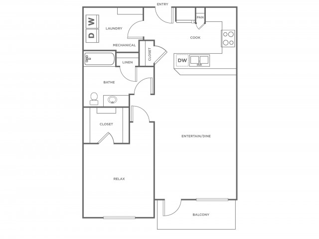 A3R | 1 bed 1 bath | from 852 square feet