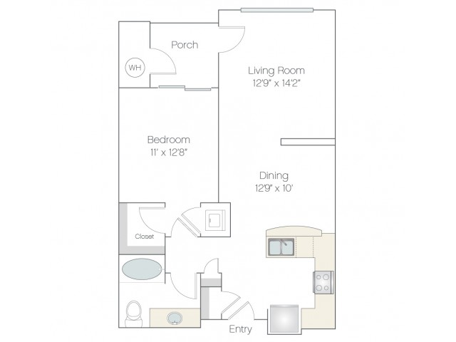 A1.GR | 1 bed 1 bath | from 789 square feet