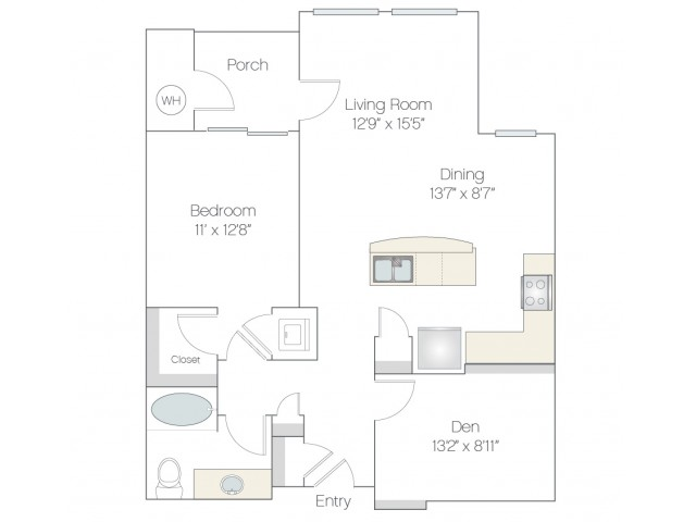 A2.GR | 1 bed 1 bath | from 952 square feet