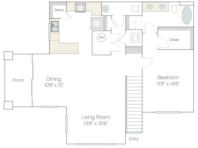 AT2 | 1 bed 2 bath | from 987 square feet