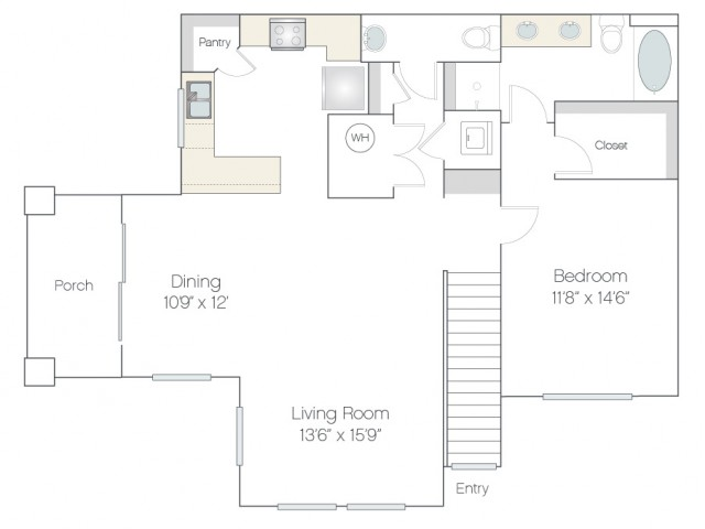 AT2.GR | 1 bed 2 bath | from 987 square feet