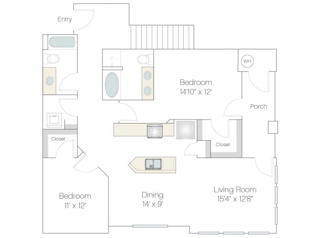 B3.GR | 2 bed 2 bath | from 1277 square feet