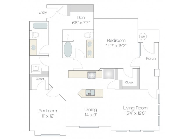 B4 | 2 bed 2 bath | from 1326 square feet