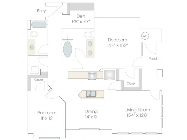B4.GR | 2 bed 2 bath | from 1326 square feet