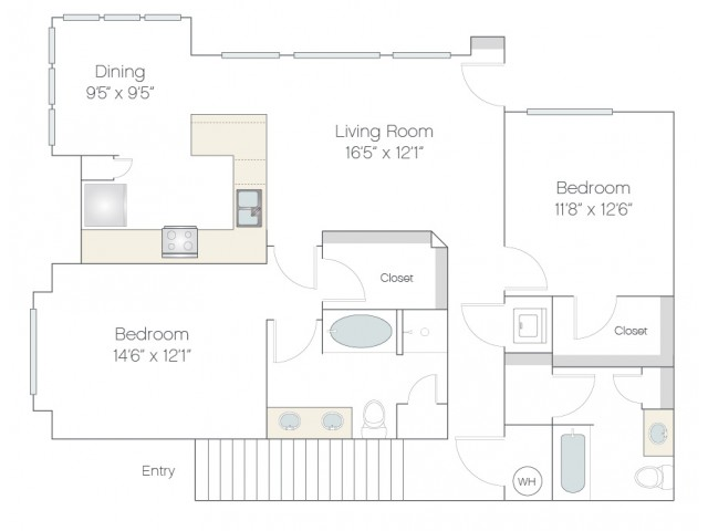 BT1.GR | 2 bed 2 bath | from 1252 square feet