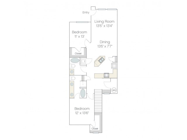 BT3 | 2 bed 2 bath | from 1283 square feet