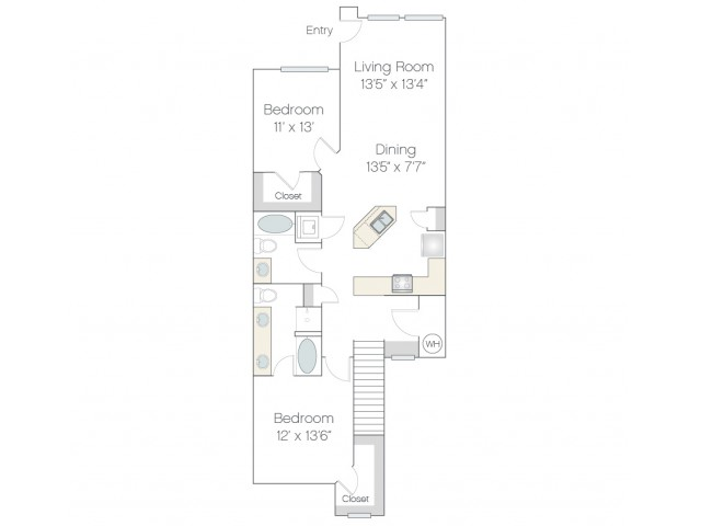 BT3.GR | 2 bed 2 bath | from 1283 square feet