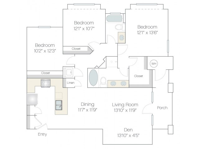 C2 | 3 bed 2 bath | from 1378 square feet