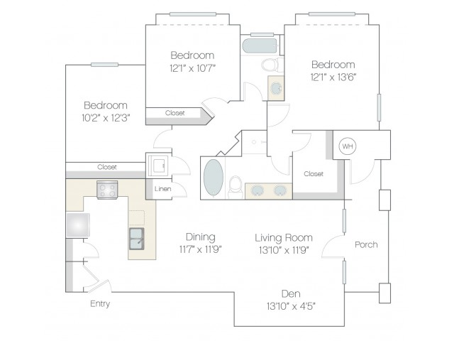 C2.GR | 3 bed 2 bath | from 1378 square feet