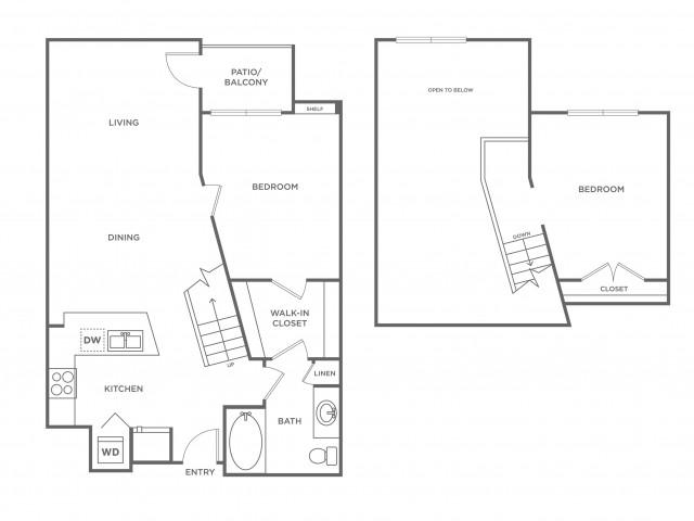 Fuchsia | 2 bed 1 bath | from 937 square feet