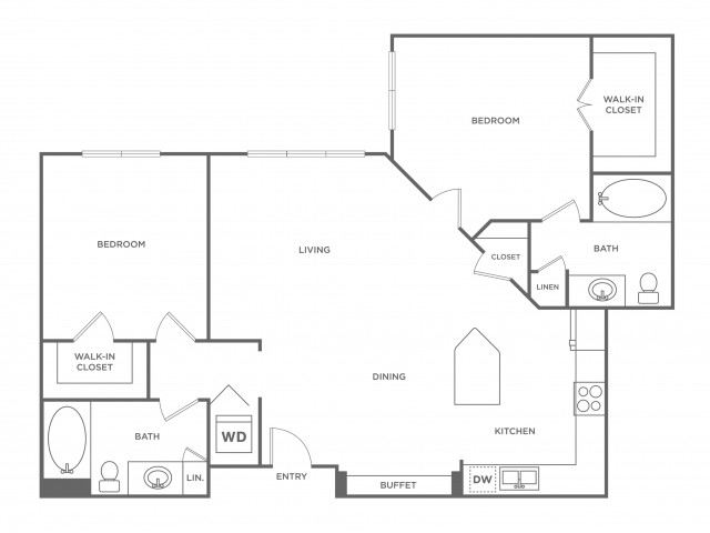 Ivory | 2 bed 2 bath | from 1030 square feet