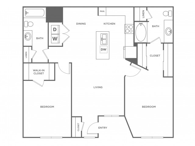 Lime | 2 bed 2 bath | from 1093 square feet