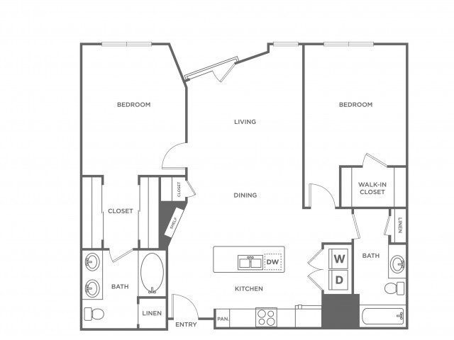 Magenta | 2 bed 2 bath | from 1111 square feet