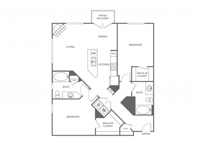 Mahogany | 2 bed 2 bath | from 1123 square feet