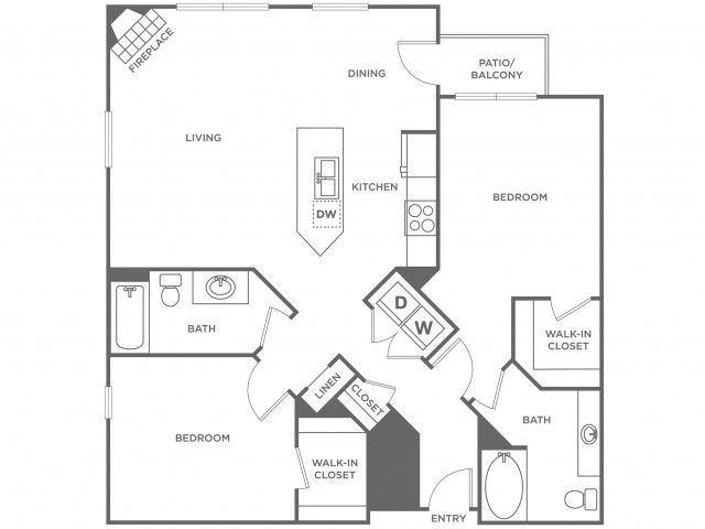 Olive | 2 bed 2 bath | from 1133 square feet