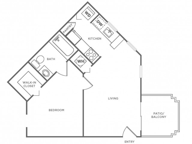 A1 Standard | 1 bed 1 bath | from 590 square feet