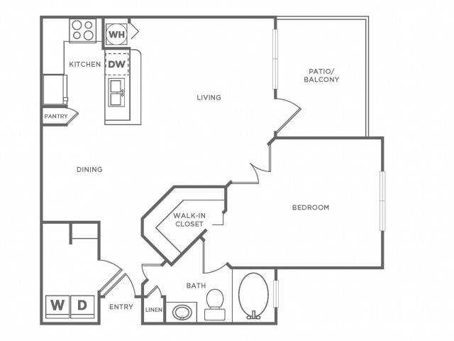 A2 Standard | 1 bed 1 bath | from 840 square feet