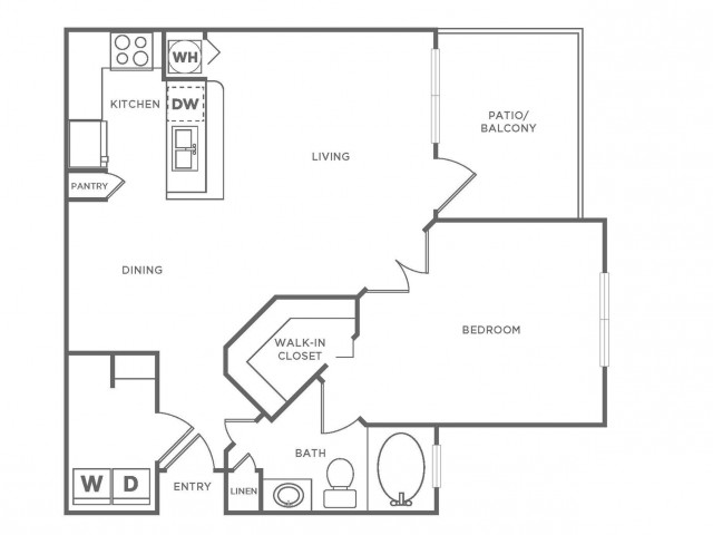 A2 Platinum | 1 bed 1 bath | from 840 square feet