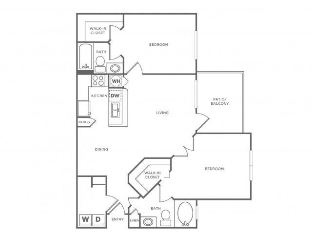 B1 Diamond | 2 bed 2 bath | from 1090 square feet