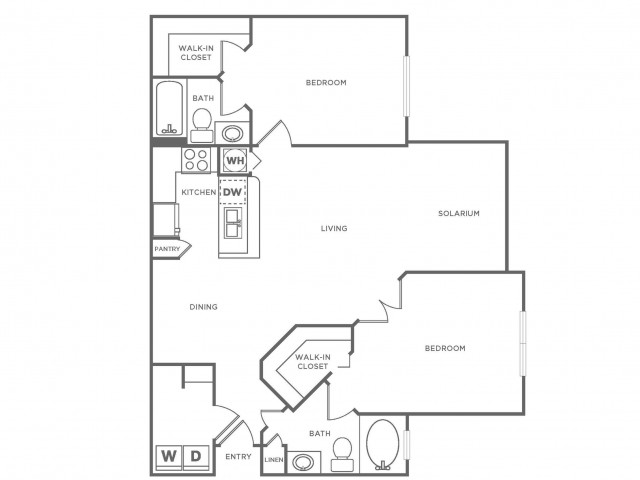 B2 Platinum | 2 bed 2 bath | from 1190 square feet