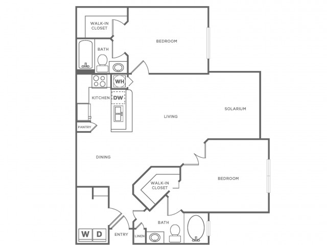B2 Diamond | 2 bed 2 bath | from 1190 square feet