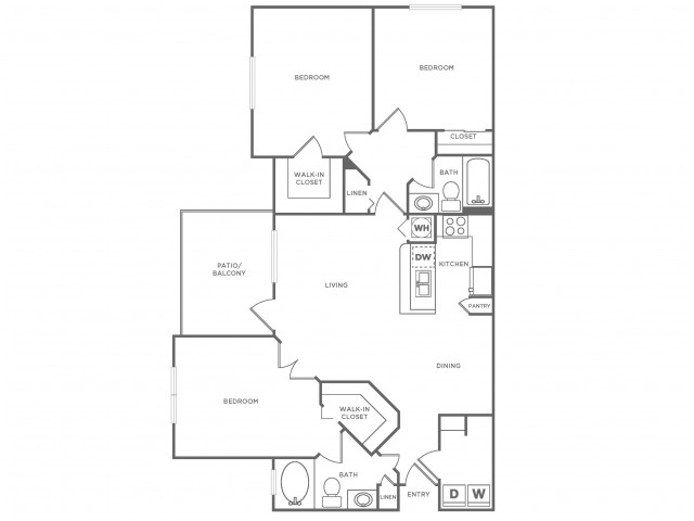 C Platinum | 3 bed 2 bath | from 1370 square feet