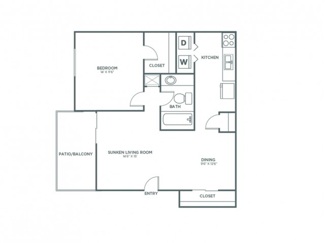 1X1 Deluxe | 1 bed 1 bath | from 847 square feet