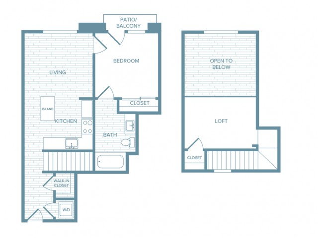 A01L | 1 bed 1 bath | from 754 square feet