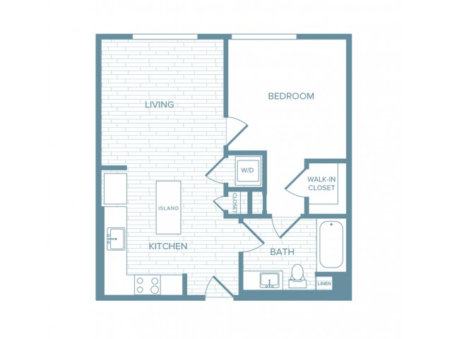 A02 | 1 bed 1 bath | from 645 square feet