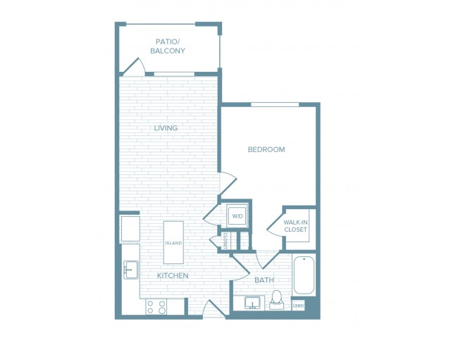 A03 | 1 bed 1 bath | from 739 square feet