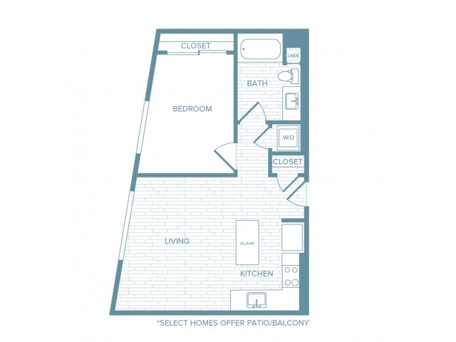 A06 | 1 bed 1 bath | from 649 square feet