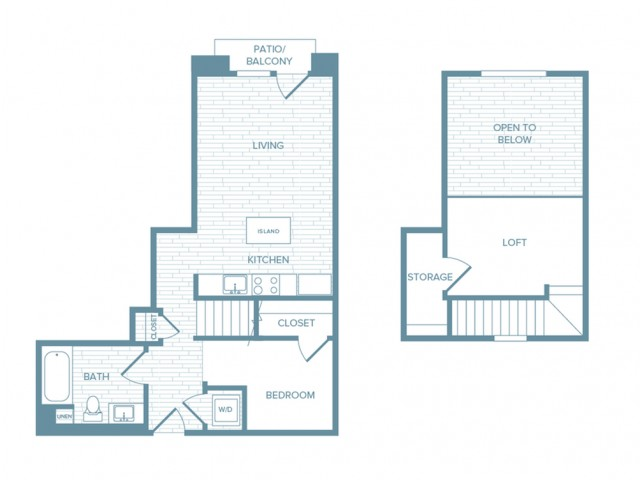 A12L | 1 bed 1 bath | from 809 square feet