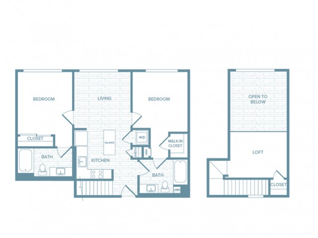B08L | 2 bed 2 bath | from 1106 square feet