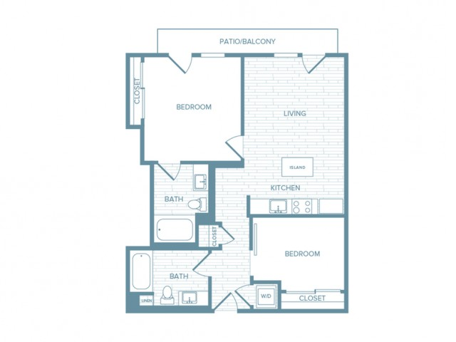 B01 | 2 bed 2 bath | from 889 square feet