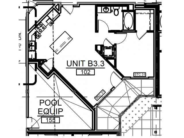 A11 | 1 bed 1 bath | from 756 square feet