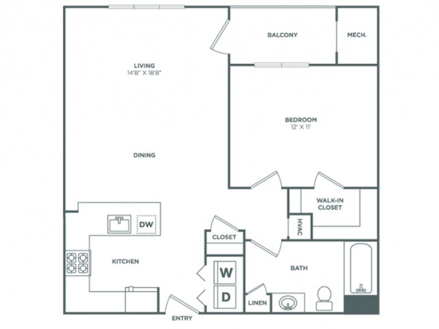 Alder | 1 bed 1 bath | from 736 square feet