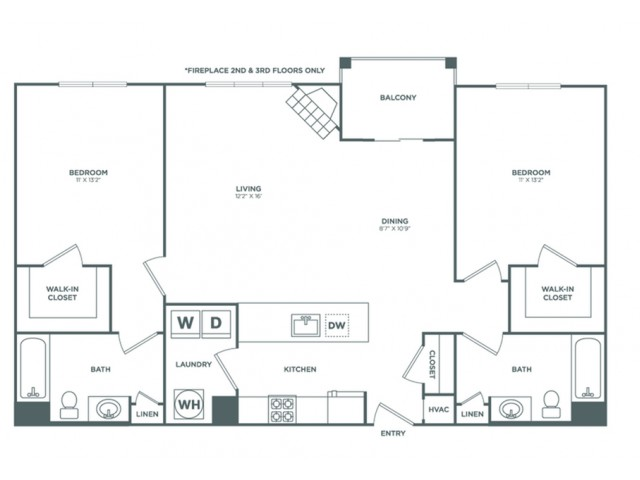 Beech | 2 bed 2 bath | from 1122 square feet