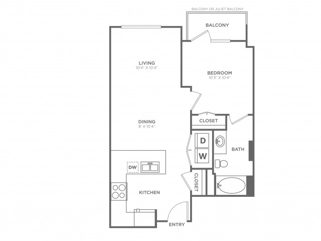 Ambience | 1 bed 1 bath | from 615 square feet