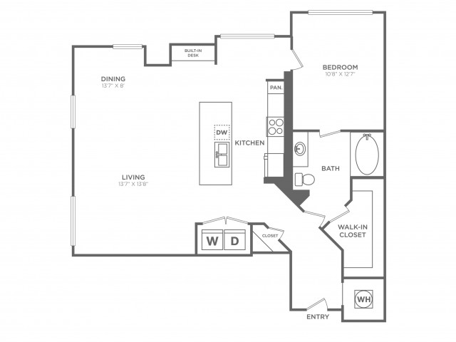 Cultured | 1 bed 1 bath | from 1048 square feet