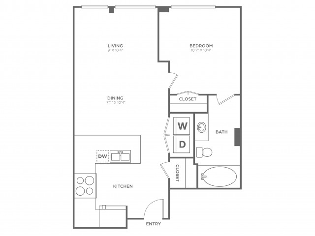 Persuasion | 1 bed 1 bath | from 590 square feet
