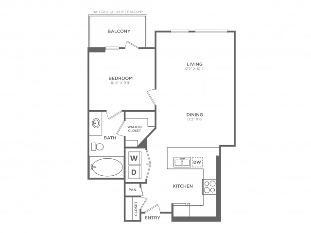 Chic | 1 bed 1 bath | from 656 square feet