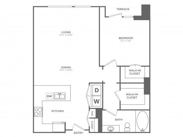 Debonair | 1 bed 1 bath | from 918 square feet